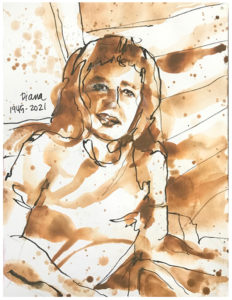 monochromatic painting of diana randrup by emily weil