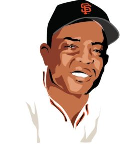 illustration of willie mays by emily weil