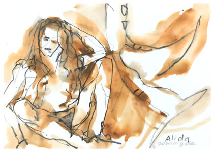 drawing of model by emily weil