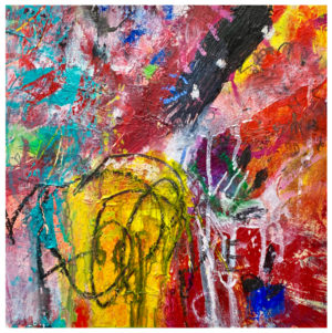 abstract acrylic painting by emily weil
