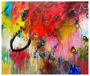 acrylic abstract painting by emily weil