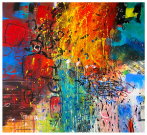 abstract painting by emily weil